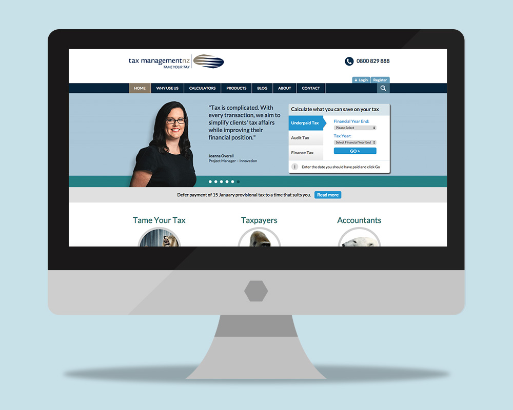 Tax Company Website Designs