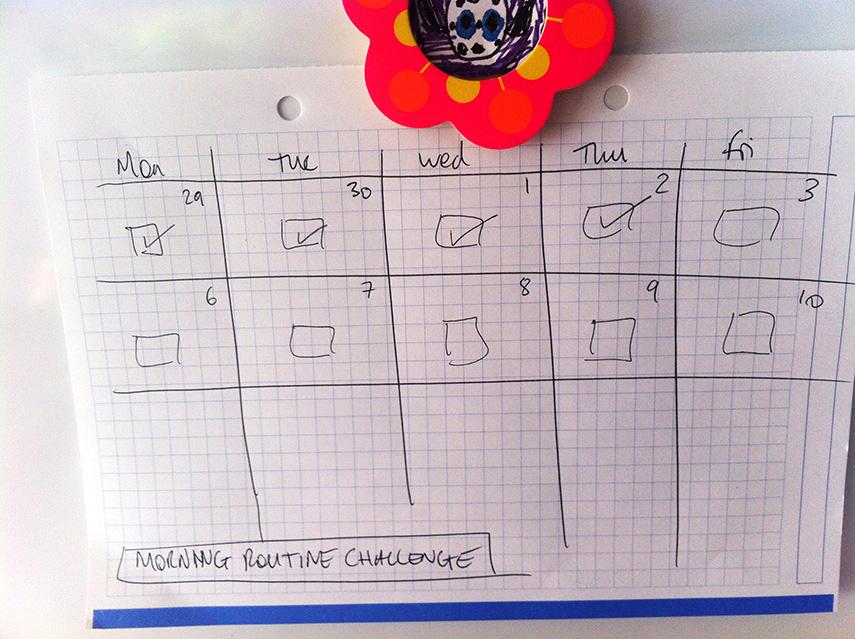 user interface designer morning tick list