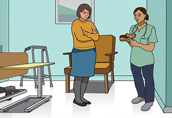 nurse-and-patient-daughter-talking-illustration