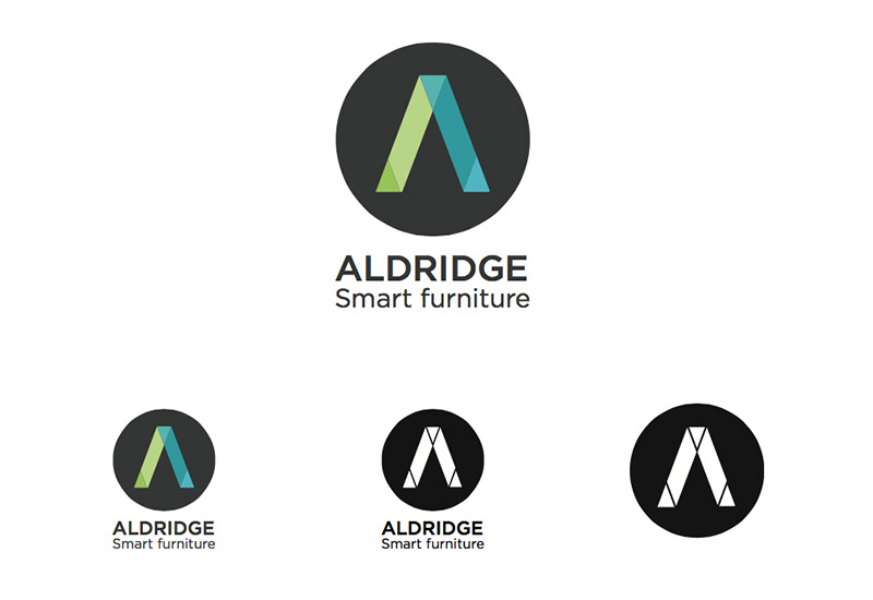 Aldridge logo concepts graphic design