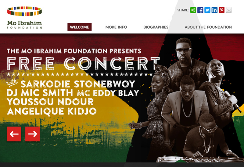 Concert website graphic design