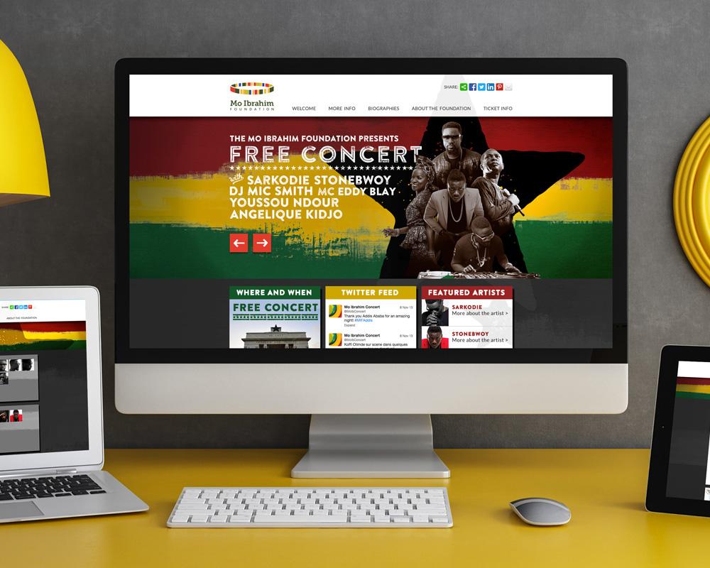 African Concert Responsive Designs
