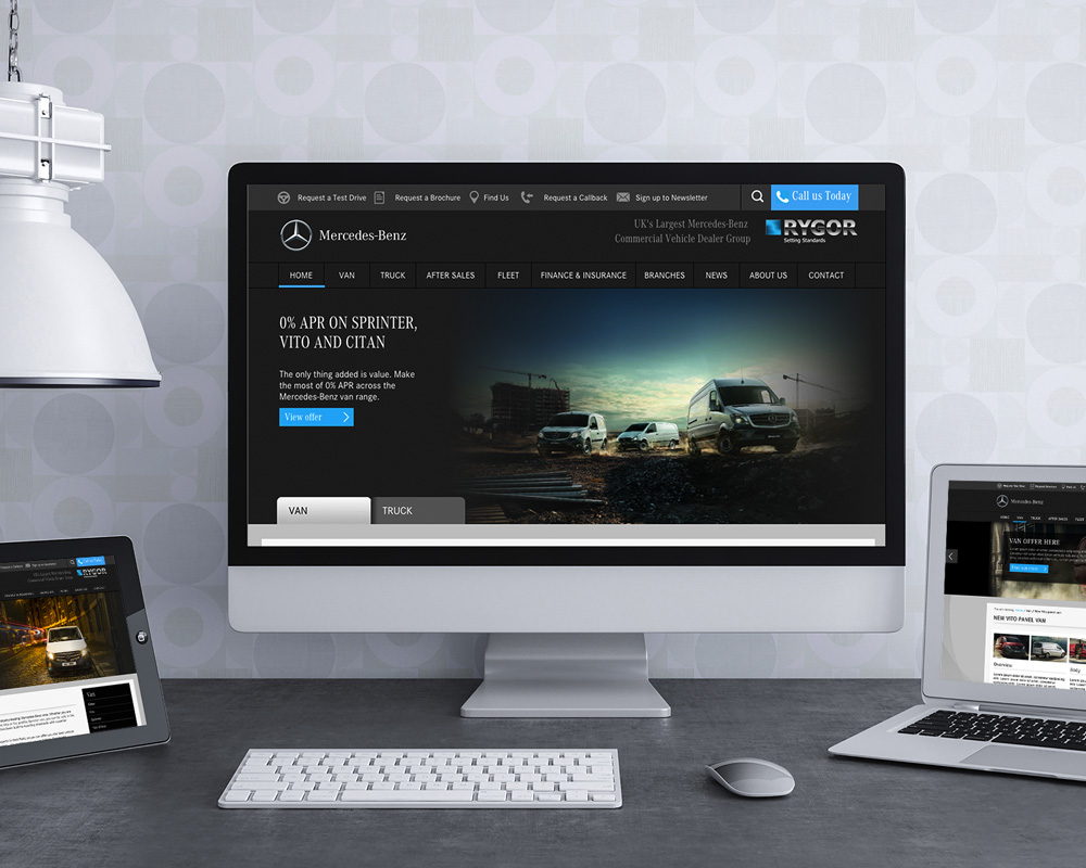 User Interface (UI) Designs for Mercedes Dealerships