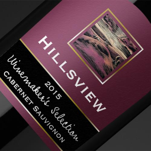 Hillsview Wine Labels Design
