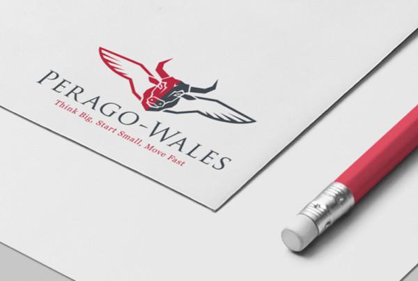 Perago Wales logo design