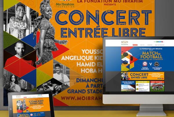 African concert print design